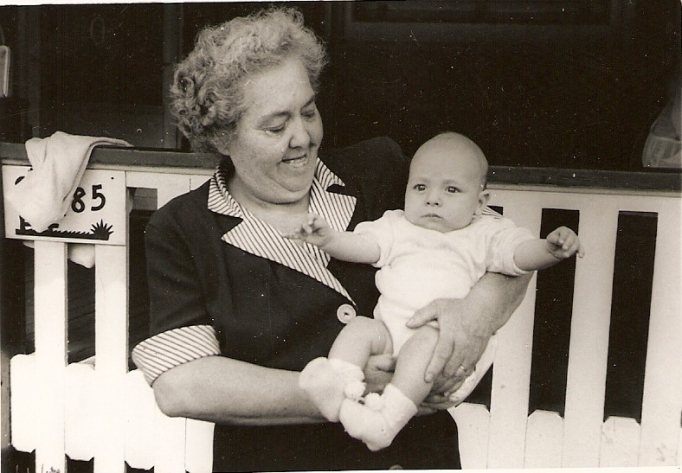 Gertrude Ellen Foley O'Neill with Ian June 1955
