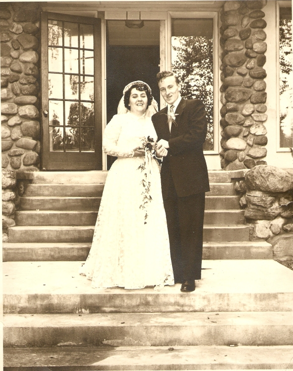 Anna and Lewis Hadden on their wedding day, September 26, 1953