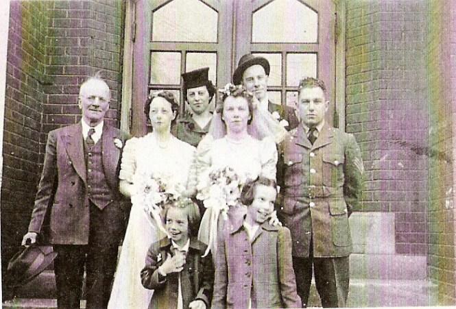 Edward Latimer Abby Knox Hazel Tess Carl with Pat and Jule Filkin 1942