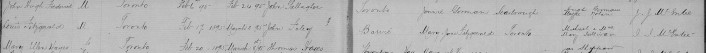 FOLEY Louis Fitzgerald baptismal record 1895